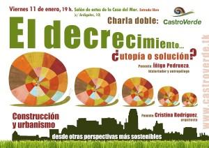 Cartel de la charla en Castro Urdiales.