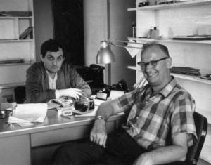 Clarke con Stanley Kubrick durante la preparación de 2001.