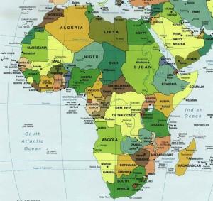 Mapa de África, un continente que crece y que hay que tener en cuenta.