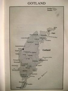 Un mapa de la isla de Gotland, indispensable para meternos en la piel de Knutas.