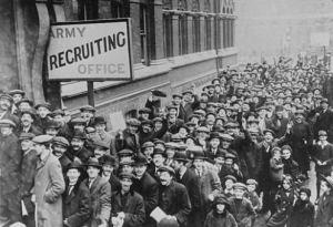 Al principio de la guerra, el entusiasmo nacionalista animaba a todos a viajar hacia la carnicería.