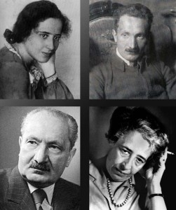 Hannah Arendt y Martin Heidegger, dos filósofos incomparables, dos personalidaes muy diferentes.