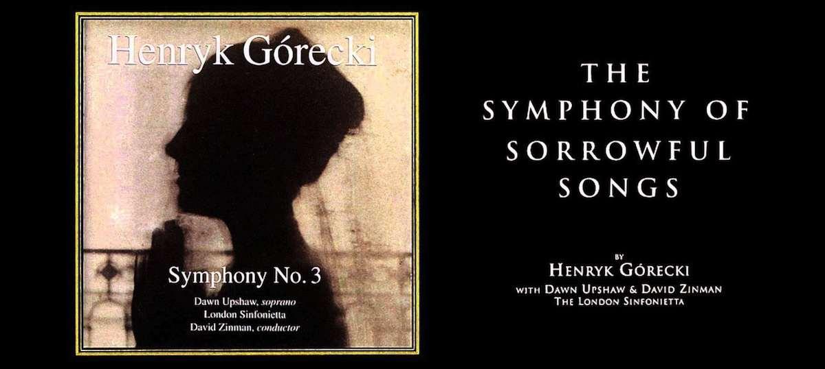 Portada de la Sinfonia de las tritezas del compositor polaco H. Góreky.