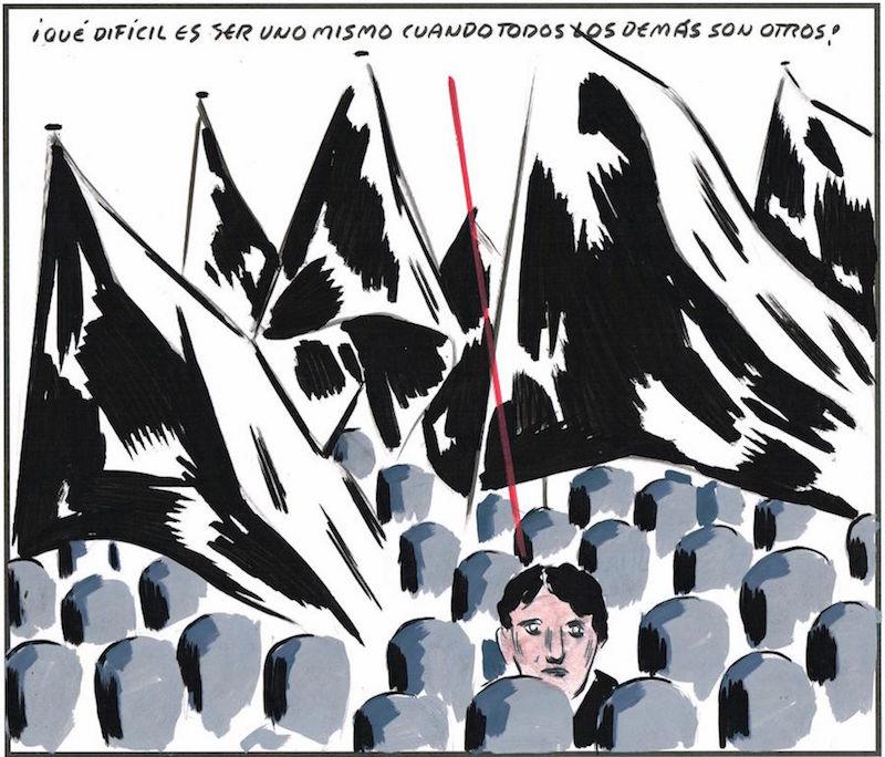 El Roto, cuando un dibujo y una frase es mejor que una campaña electoral completa.
