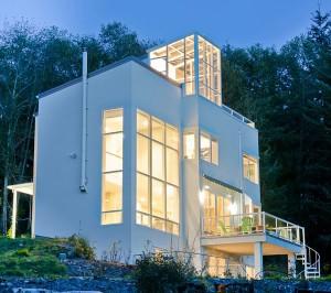 Casa ecológica de  Designs Northwest Architects en Stanwood, estado de Washington, EE.UU.