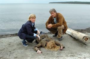 Anders Knutas acompañado de su inseparable Karin Jacobsson.