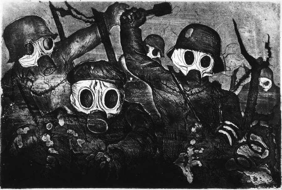 Cuadro de Otto DIx representando la Primera Guerra Mundial. Las obras de Dix fueron perseguidas por el régimen nazi.